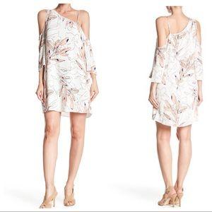 1.State Cold Shoulder Flounce Dress